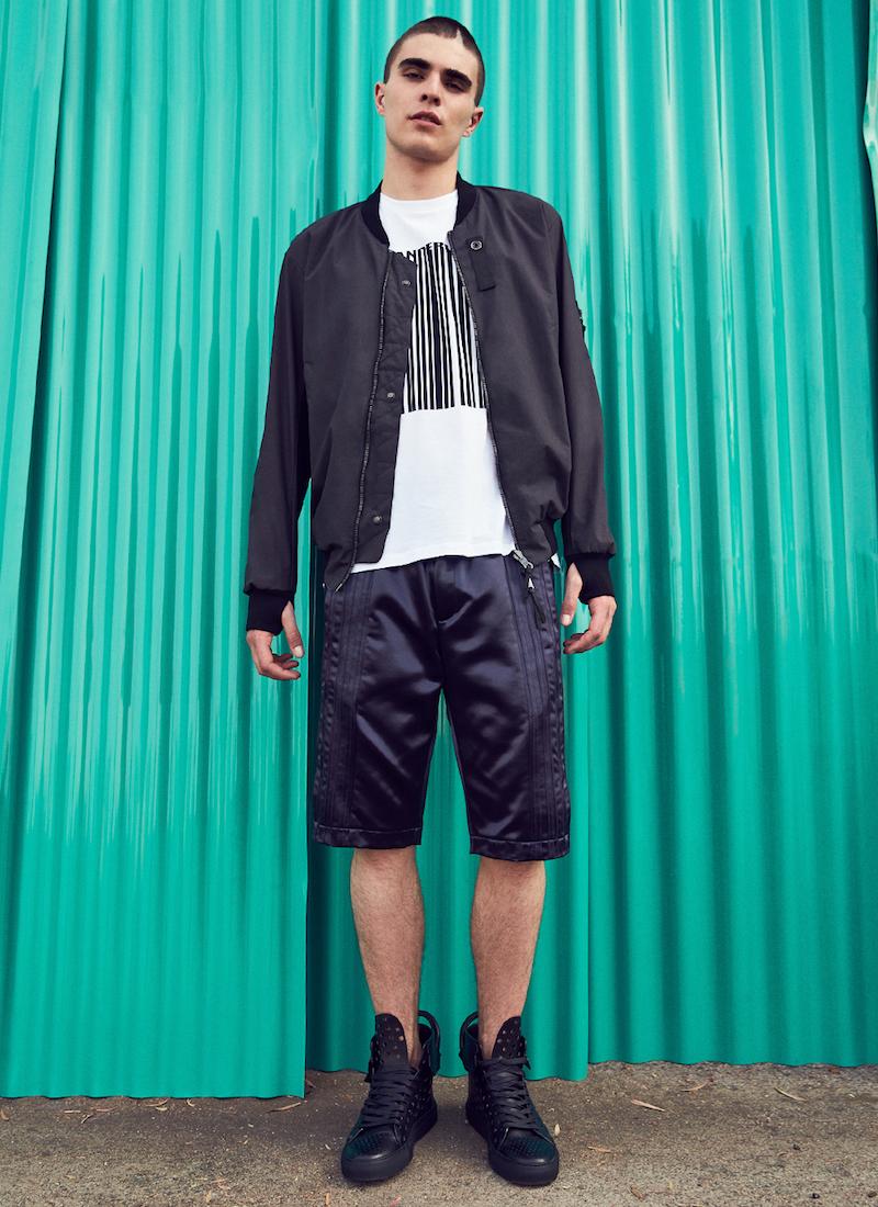 Alexander Wang Glossed Satin Tuxedo Shorts
