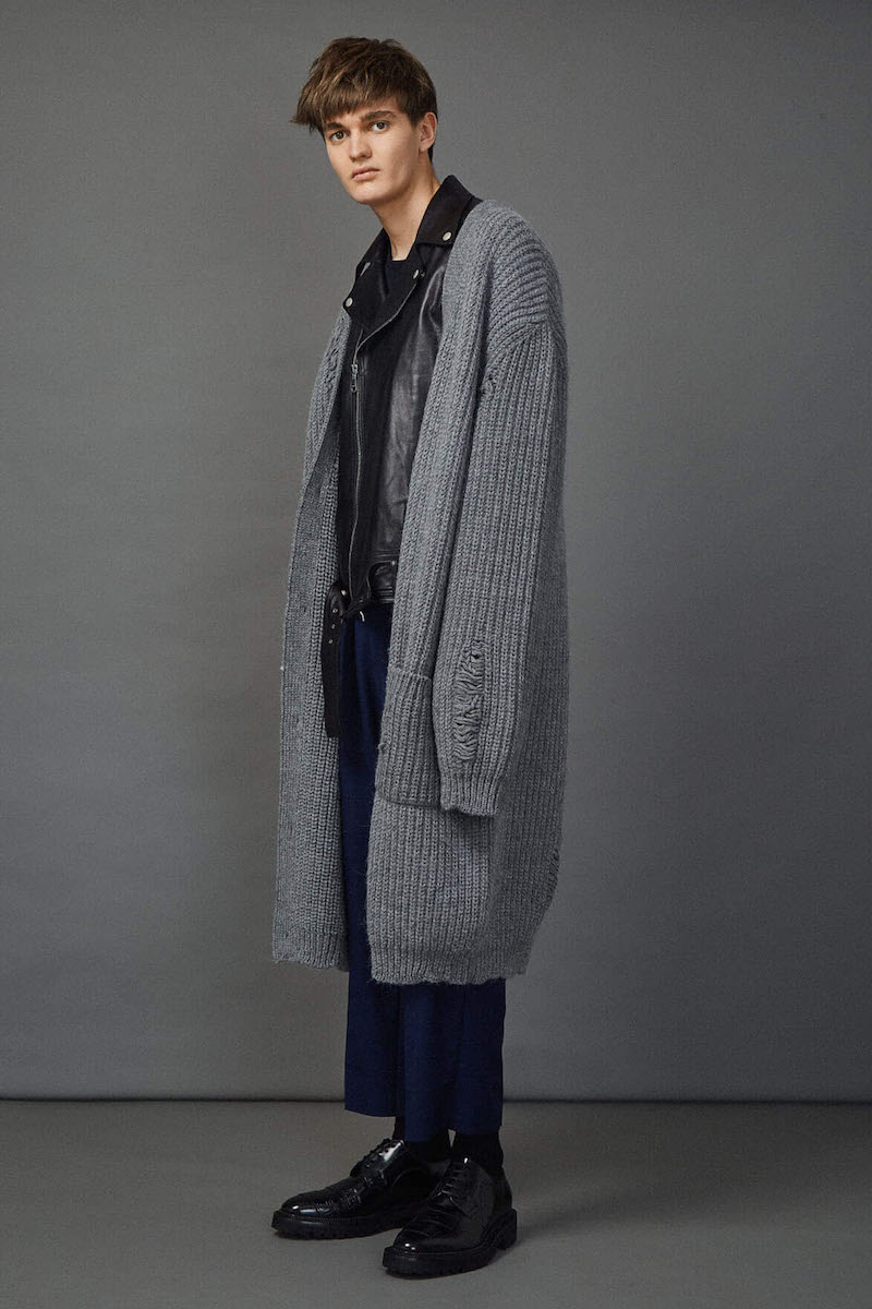 J.W. Anderson Mid-Length Oversized Laddered Cardigan