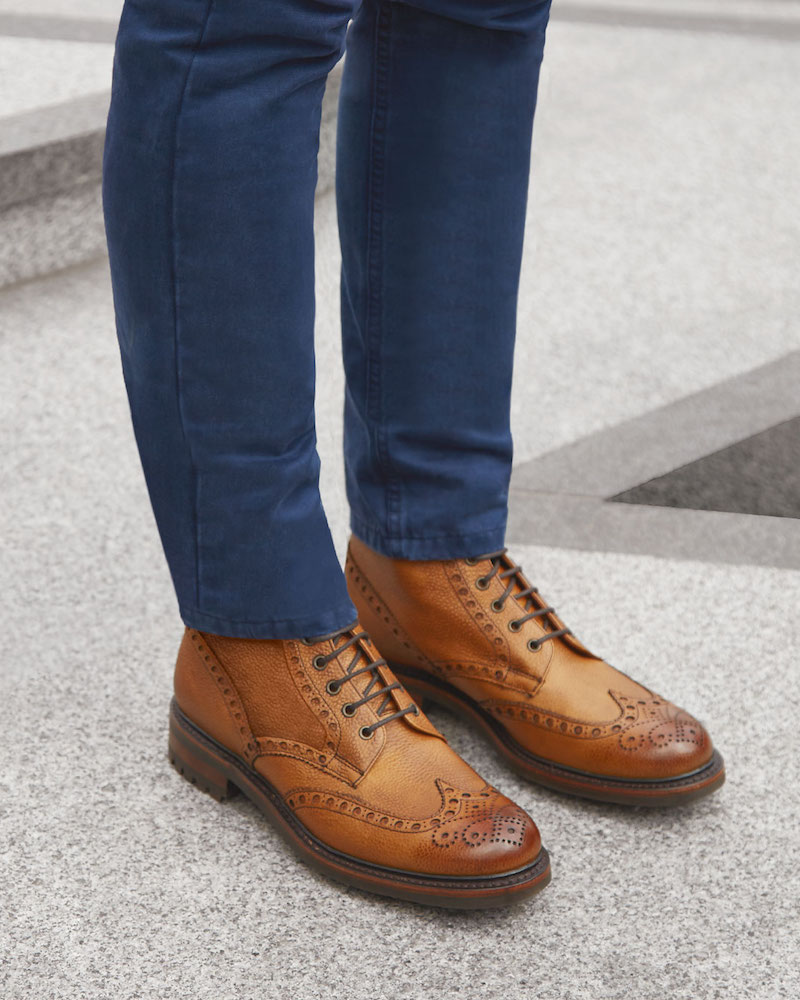 Cheaney Tweed C Lace Up Brogue Boots