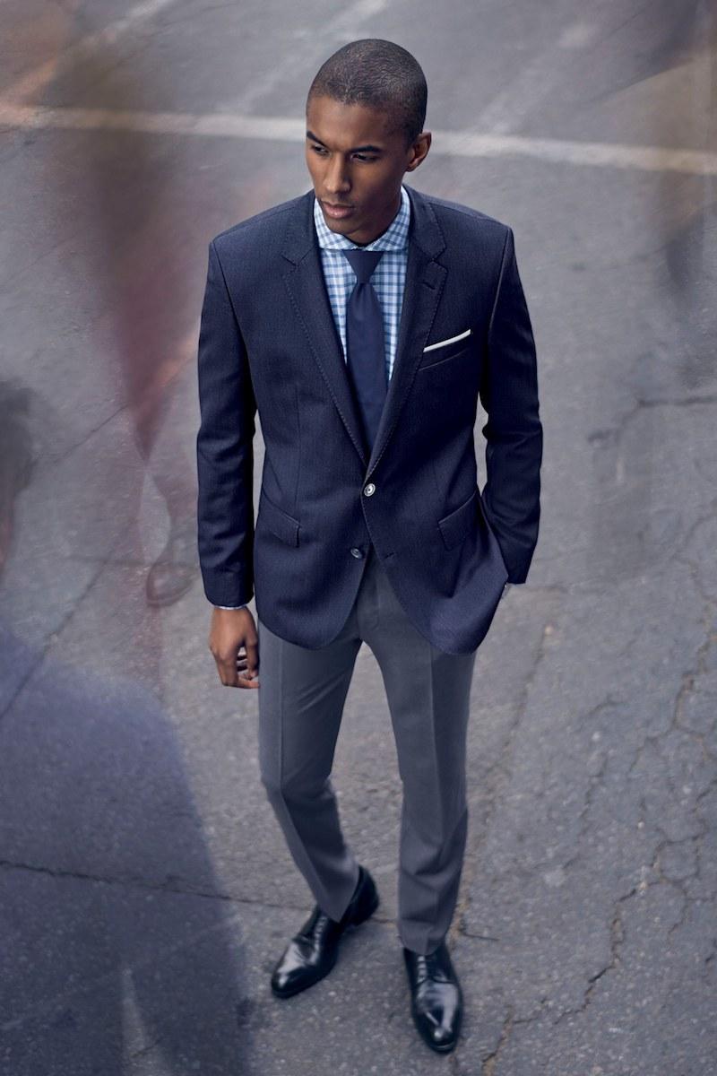 BOSS Hutsons Trim Fit Herringbone Wool Sport Coat