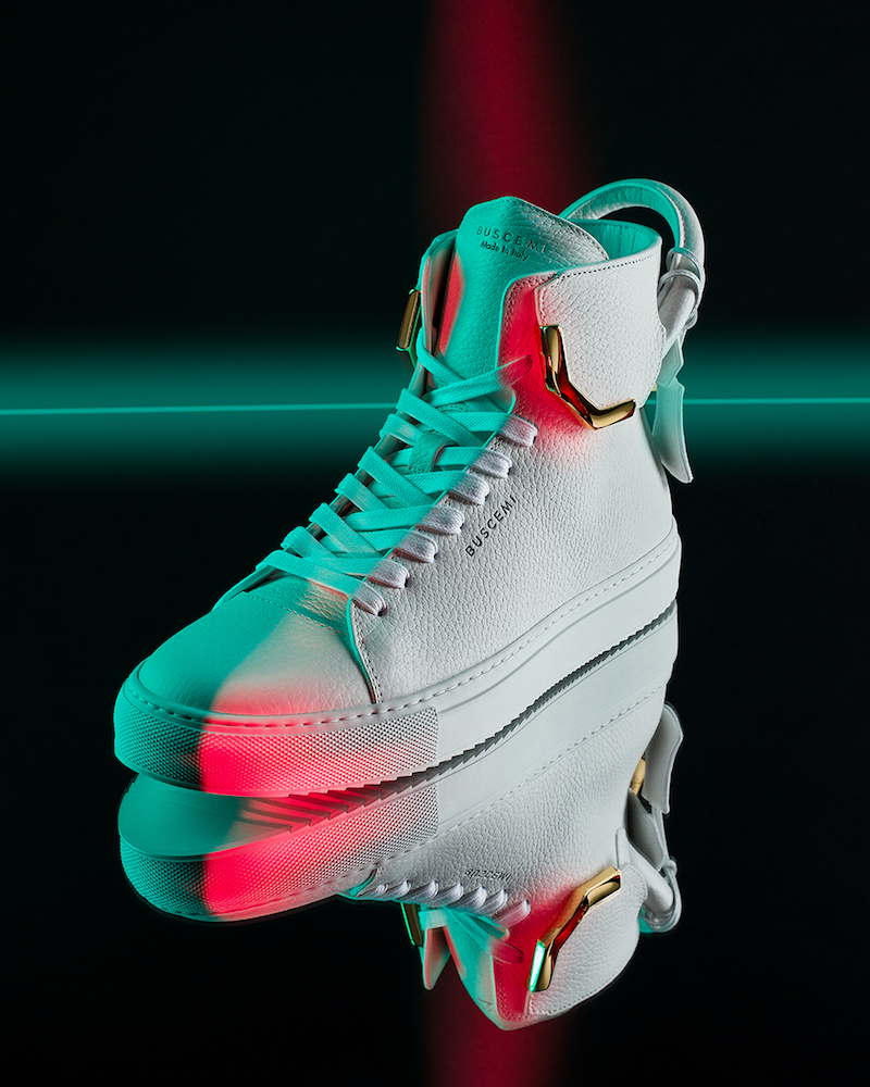 Buscemi 125MM Corner Metal Leather Sneakers