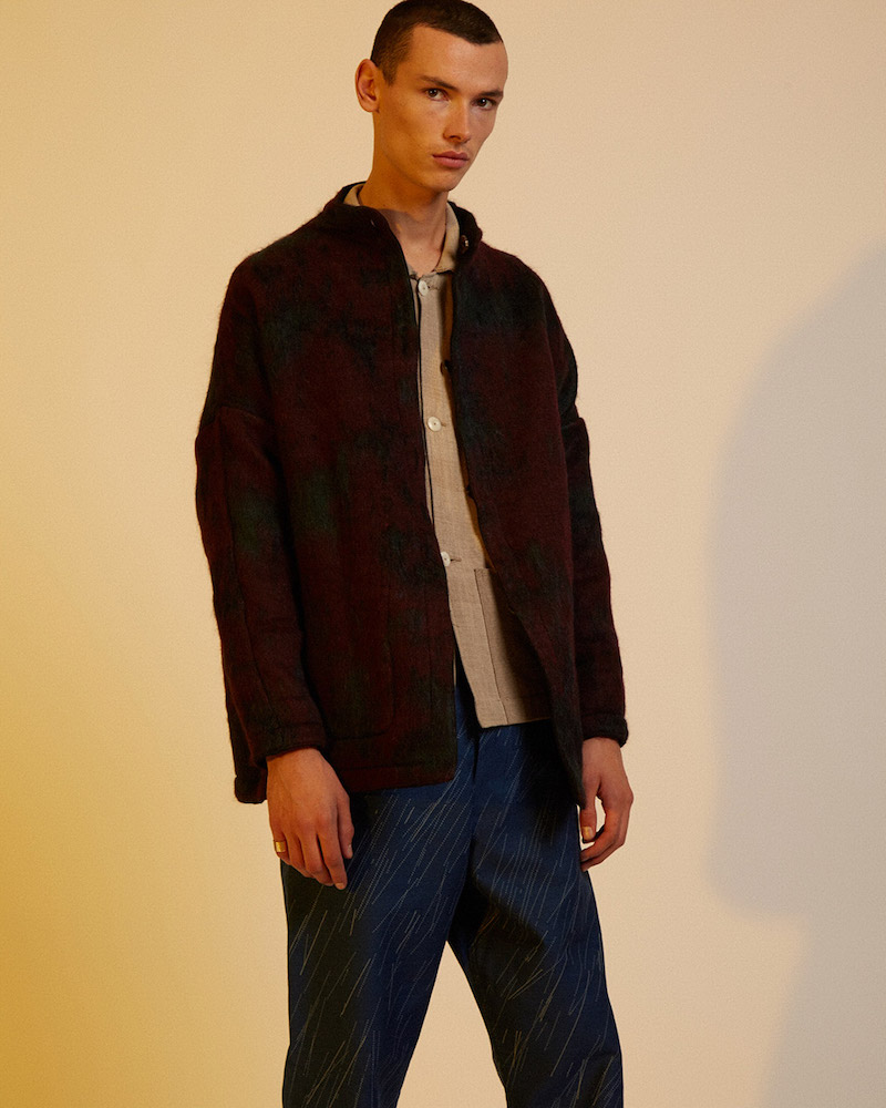 Marvielab Oversized Reversible Mohair Mao Jacket