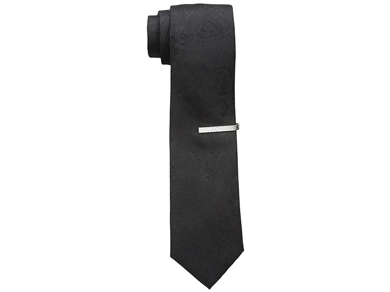 Nick Graham Tonal Paisley Neck Tie