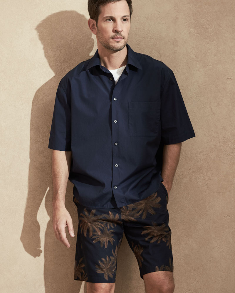 Vince Boxy-Fit Half-Sleeve Shirt