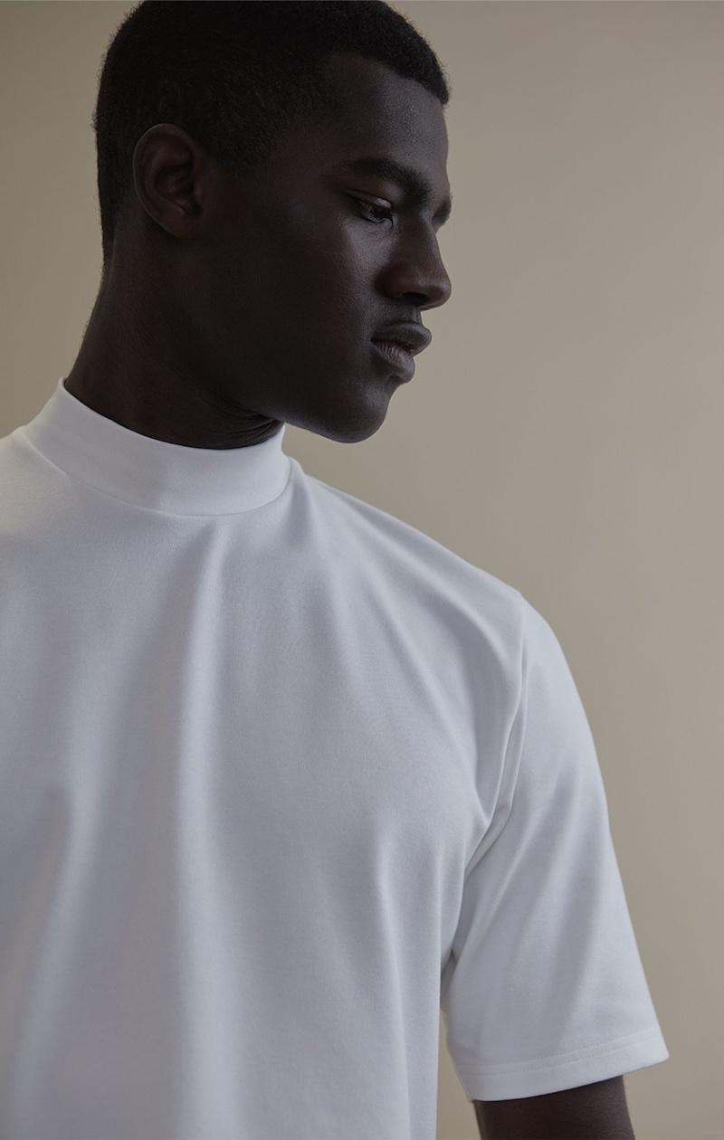 Acne Studios Fons High-Neck Jersey T-Shirt