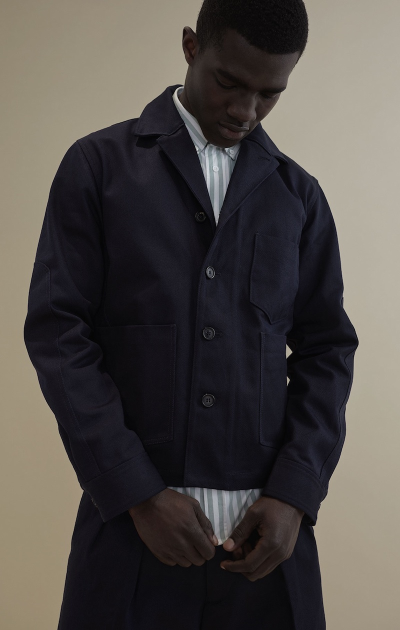 Acne Studios Method V-Neck Cotton Jacket