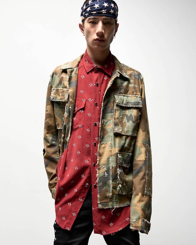AMIRI Studded Camouflage Cotton Field Jacket