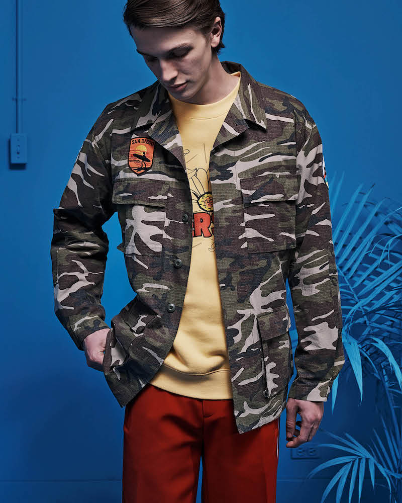 Andersson Bell Camouflage Cotton Appliquéd Field Jacket
