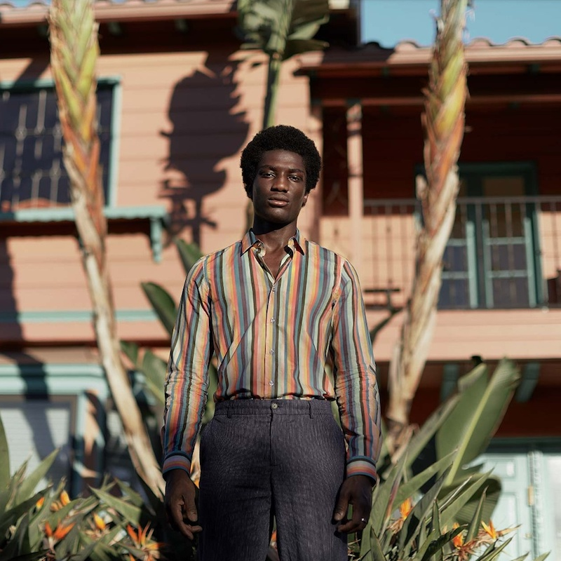 Paul Smith Artist Stripe-Print Cotton Shirt