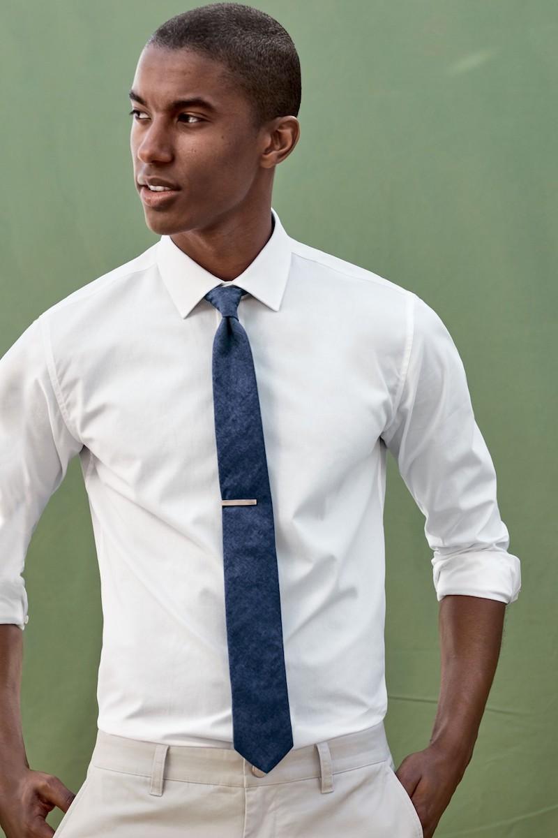 Ted Baker London Floral Denim Skinny Tie