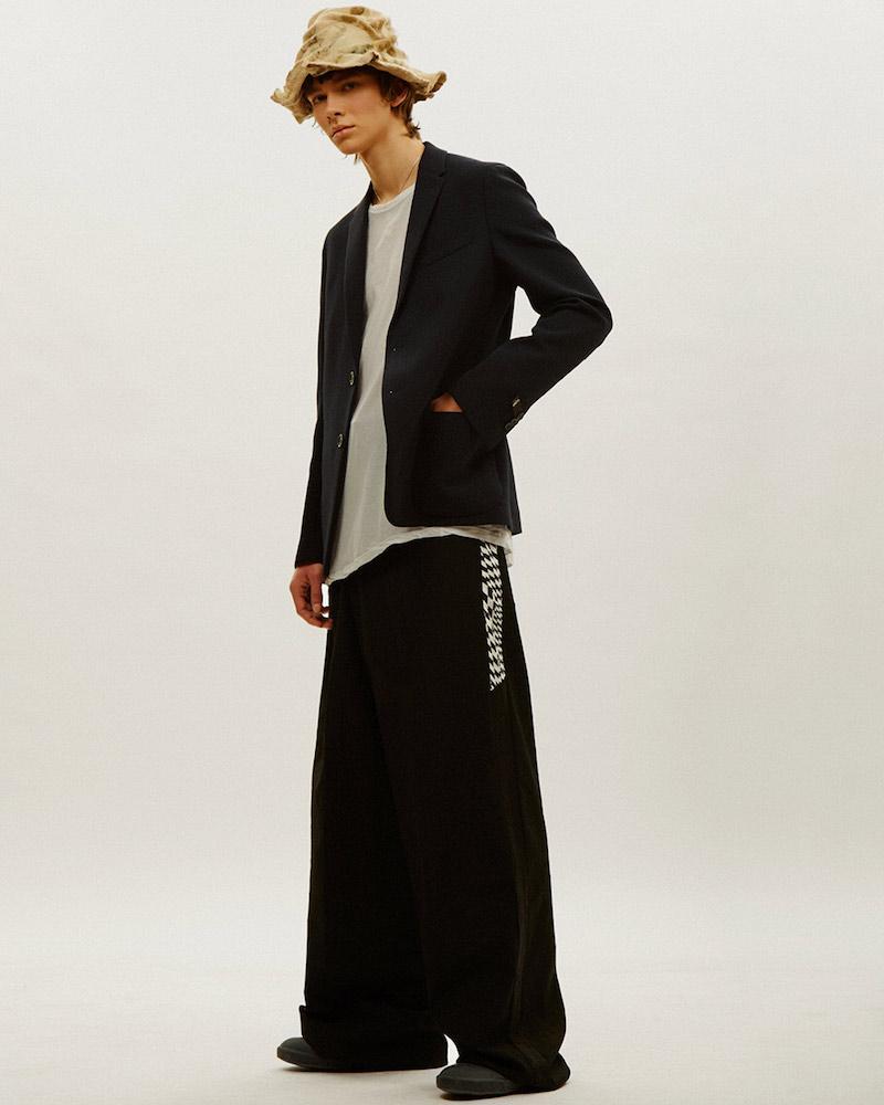 Yang Li Wide Leg Contrast Seam Pants