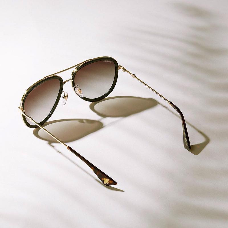 Gucci Bi-Colour Aviator Sunglasses