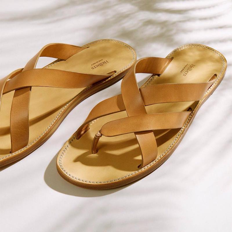 Helbers Leather Crossover Sandals