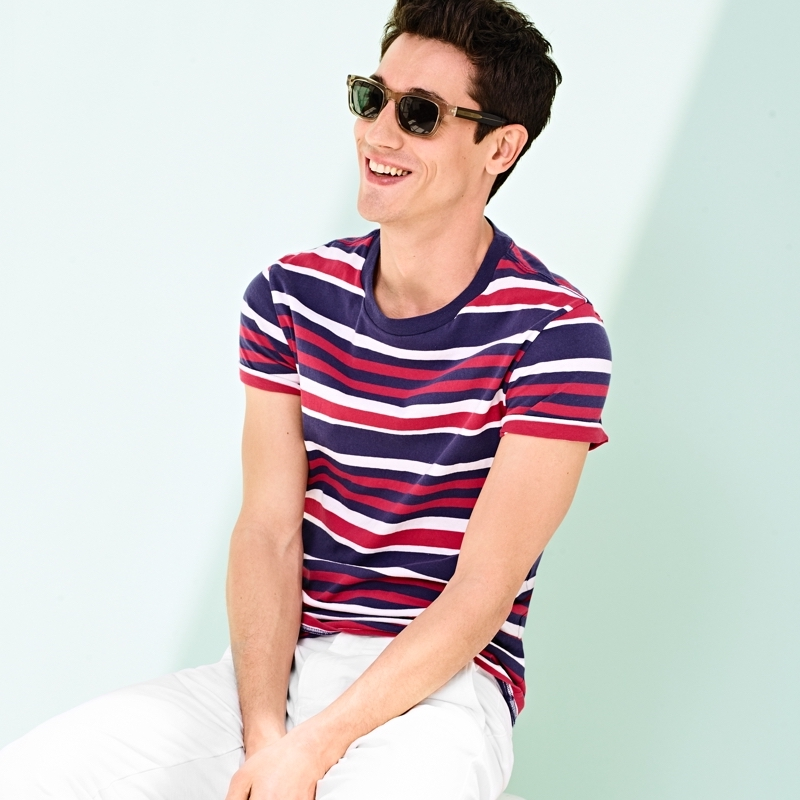 J.Crew Cotton T-Shirt In Wide Stripe