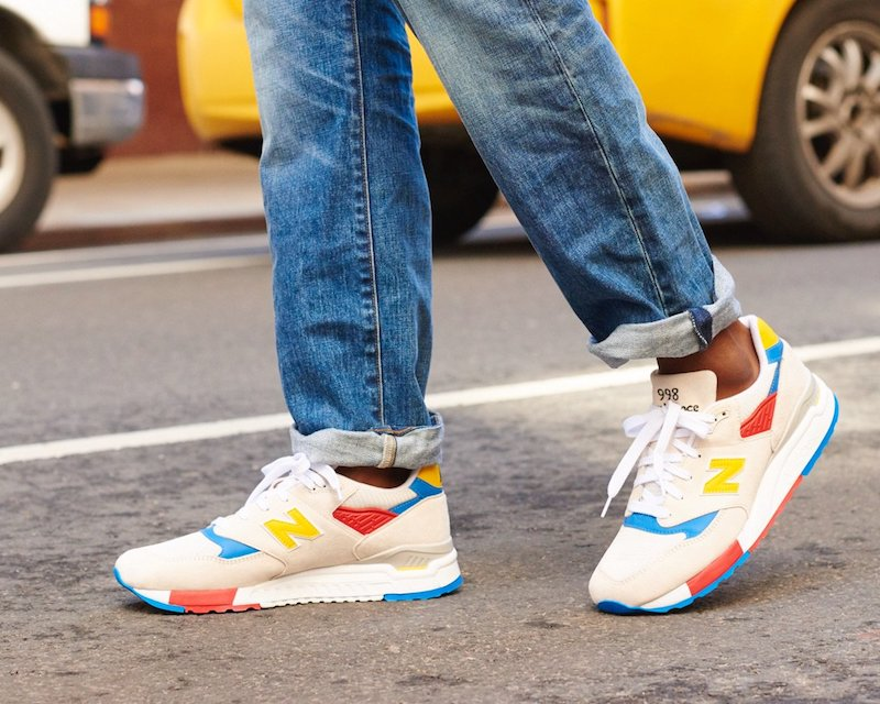 New Balance for J.Crew 998 Beach Ball Sneakers