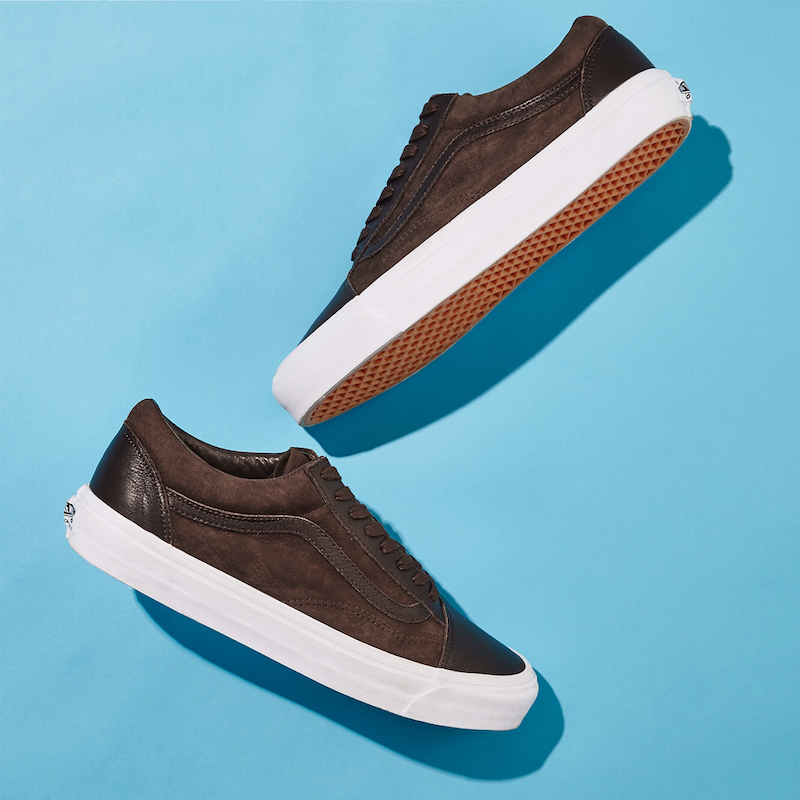 BNY Sole Series x Vans OG Old Skool Nubuck & Leather Sneakers in Brown
