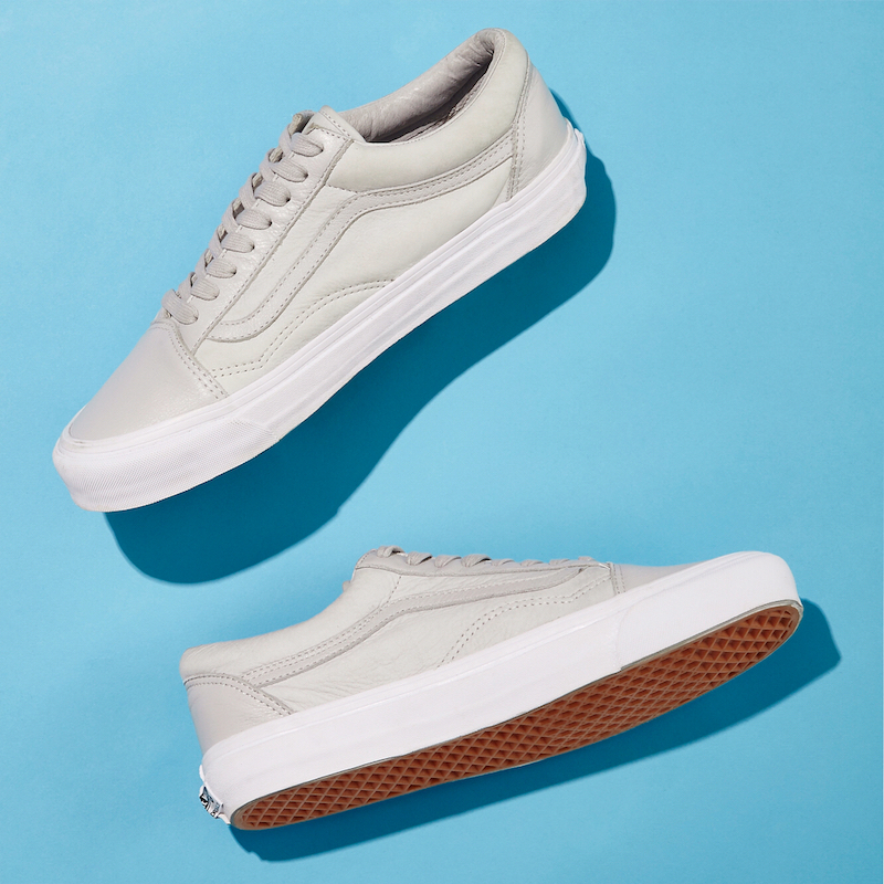 BNY Sole Series x Vans OG Old Skool Nubuck & Leather Sneakers in Gray