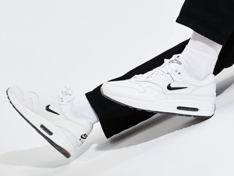 Nike Air Max 1 Premium SC Jewel Swoosh in White Black