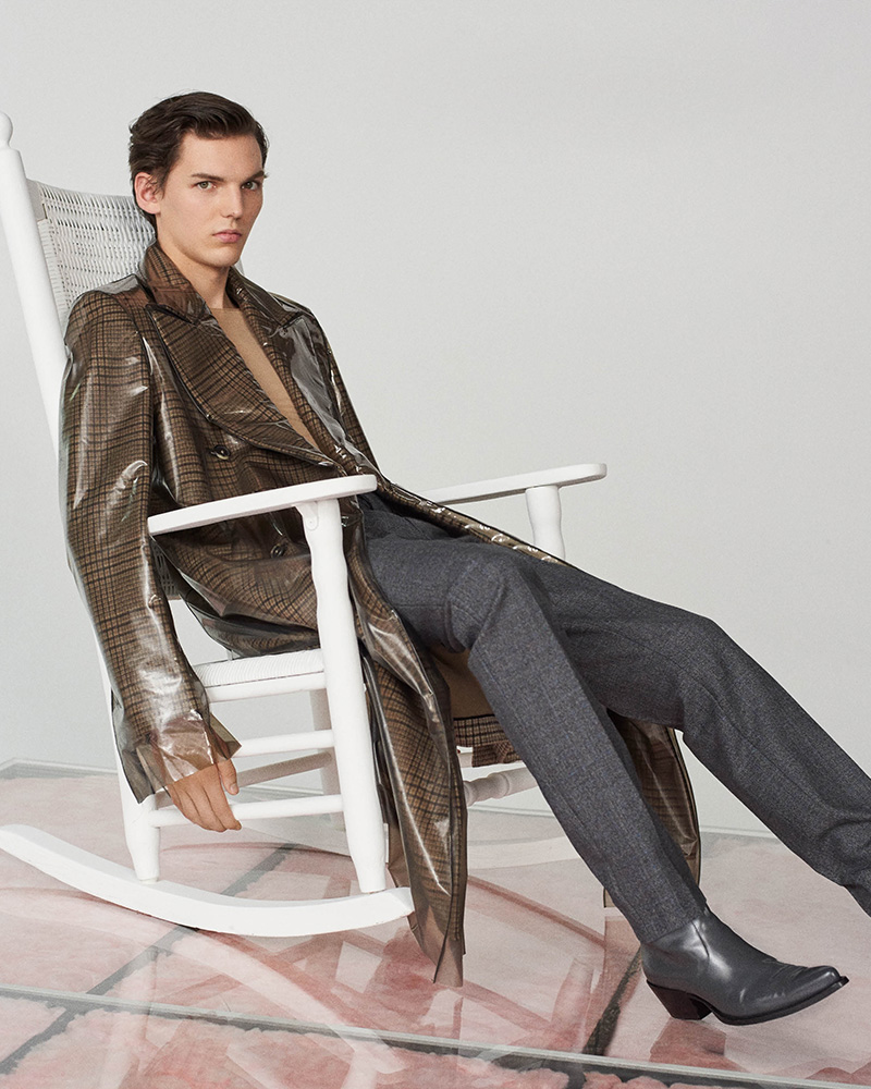 CALVIN KLEIN 205W39NYC Stripe-Appliquéd Wool Trousers