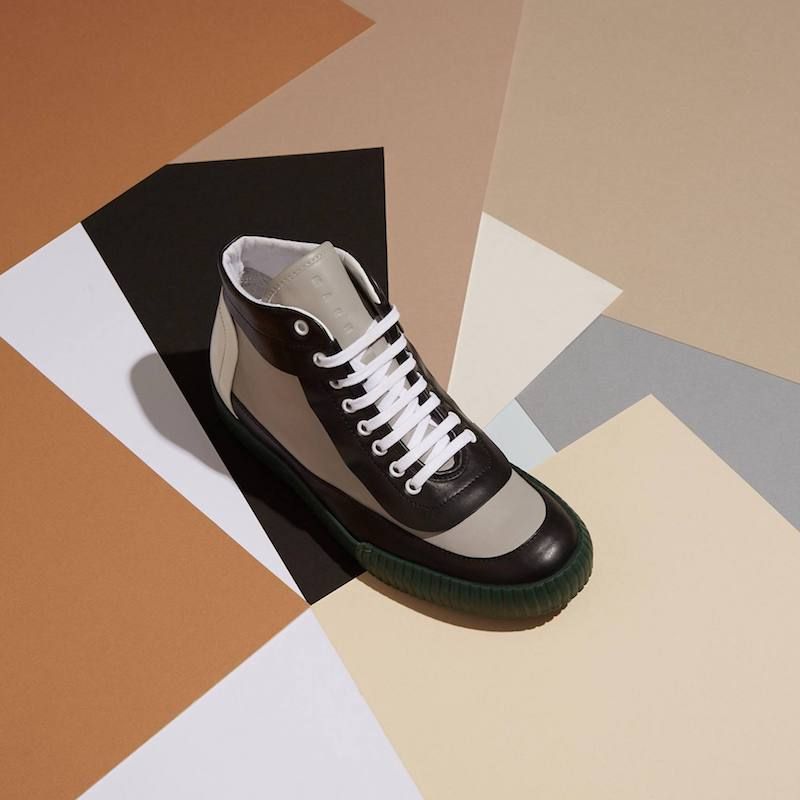 Marni Contrast-Heel Leather High-Top Trainers