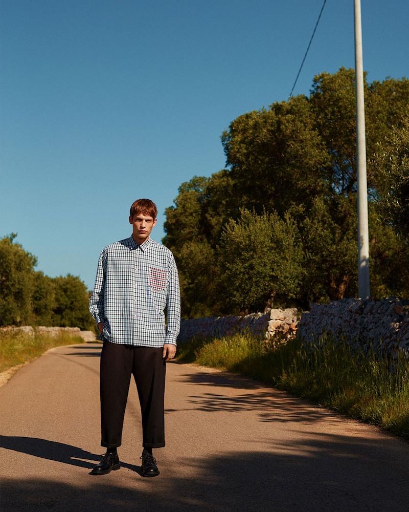Comme des Garçons SHIRT Contrast-Patch Oversized Checked Shirt