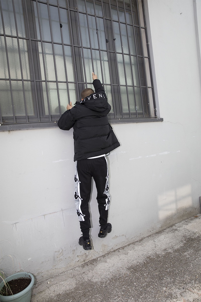 Givenchy Hooded Logo Print Down Jacket