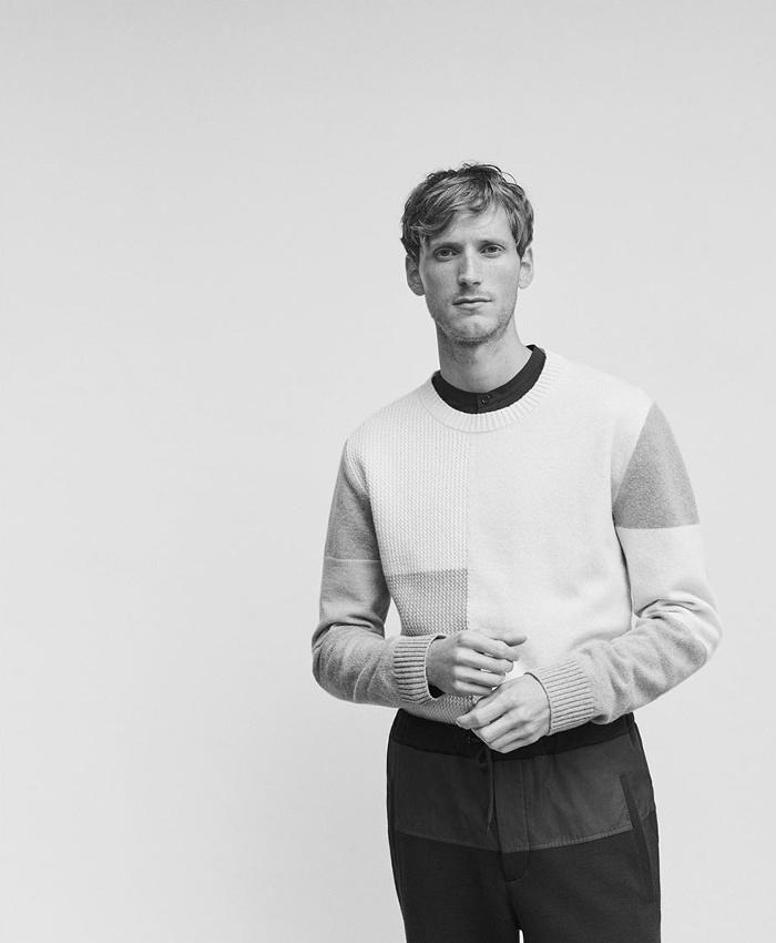 Helbers Crew-Neck Patchwork Sweater