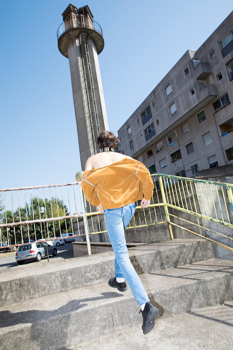 Maison Margiela Corduroy Effect Chenille Track Jacket