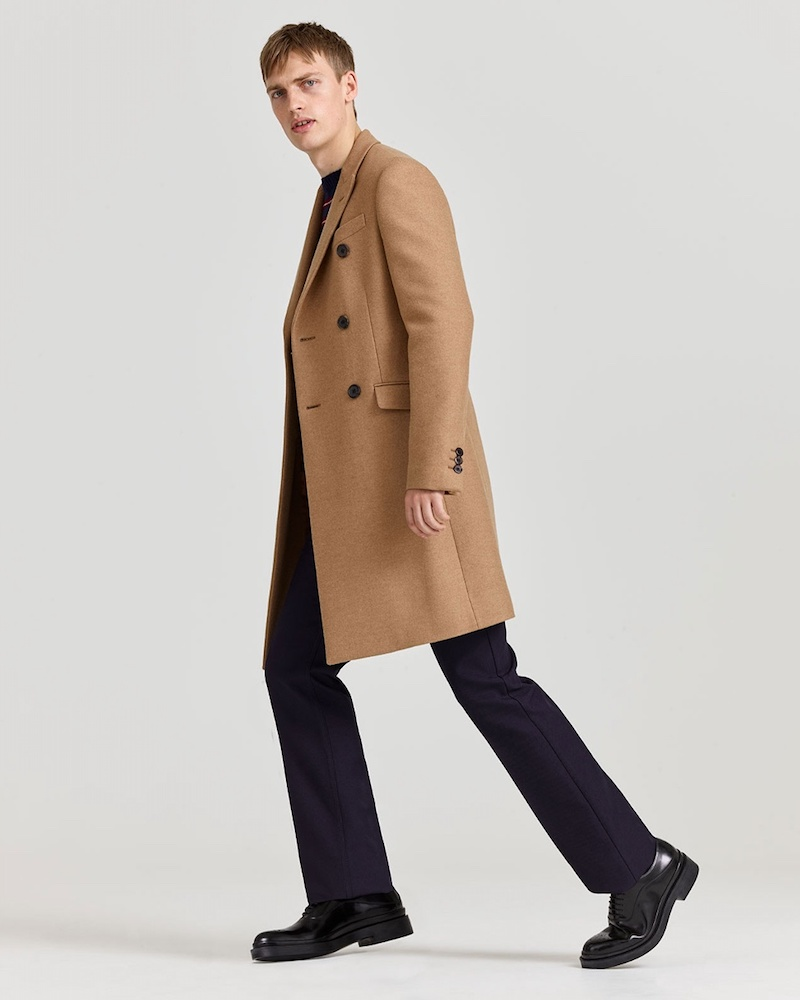Prada Notch-Lapel Double-Breasted Coat