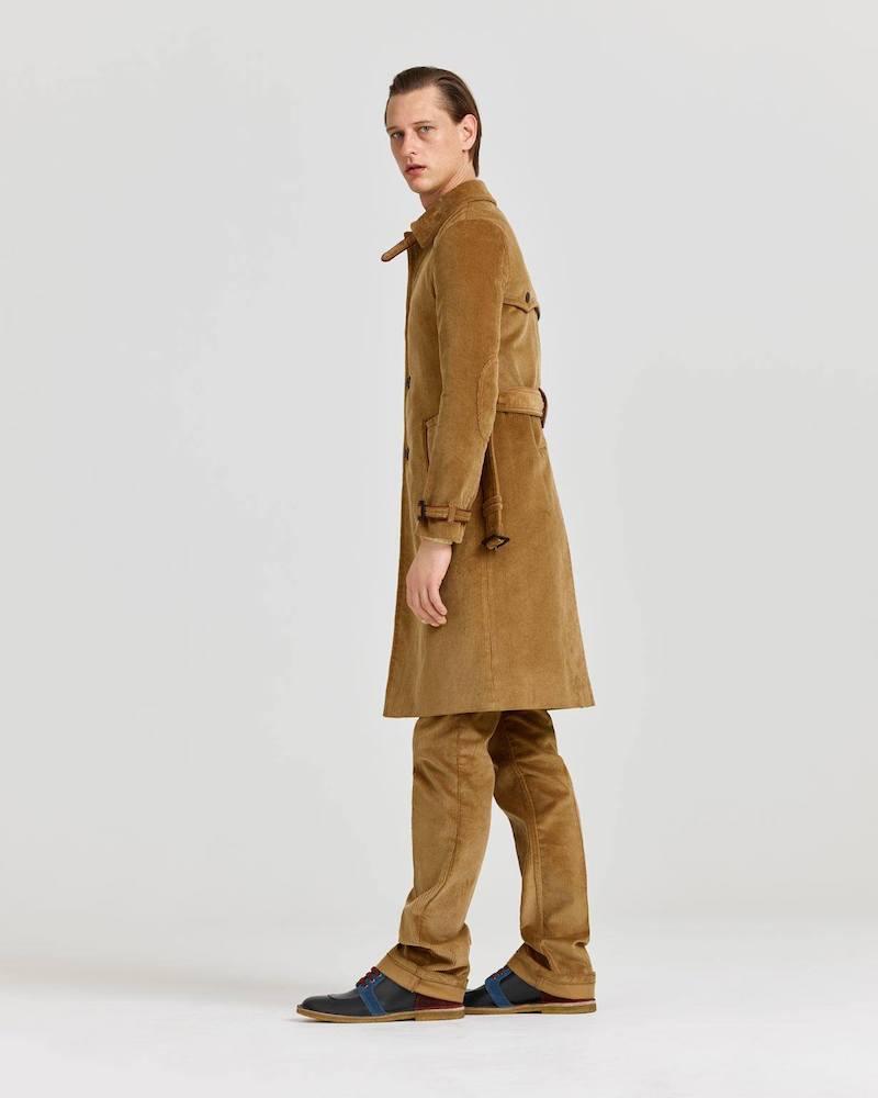 Prada Single-Breasted Corduroy Overcoat