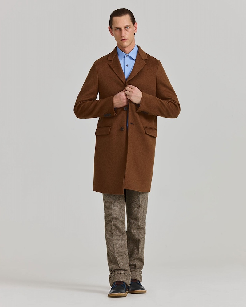 Prada Single-Breasted Notch-Lapel Coat
