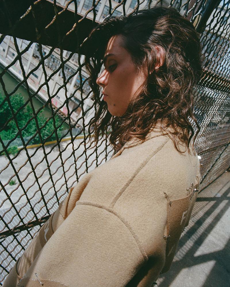 R13 Graffiti Wool Topcoat