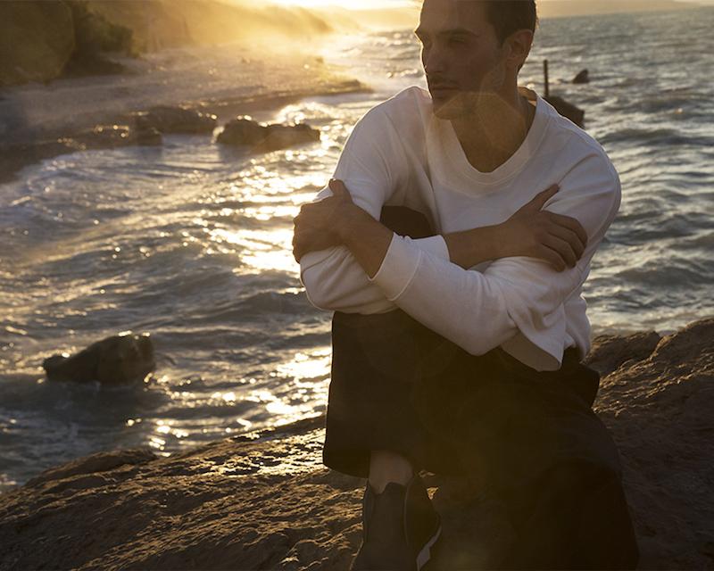 Stone Island Malfile Ribbed Sides Cotton Sweatshirt