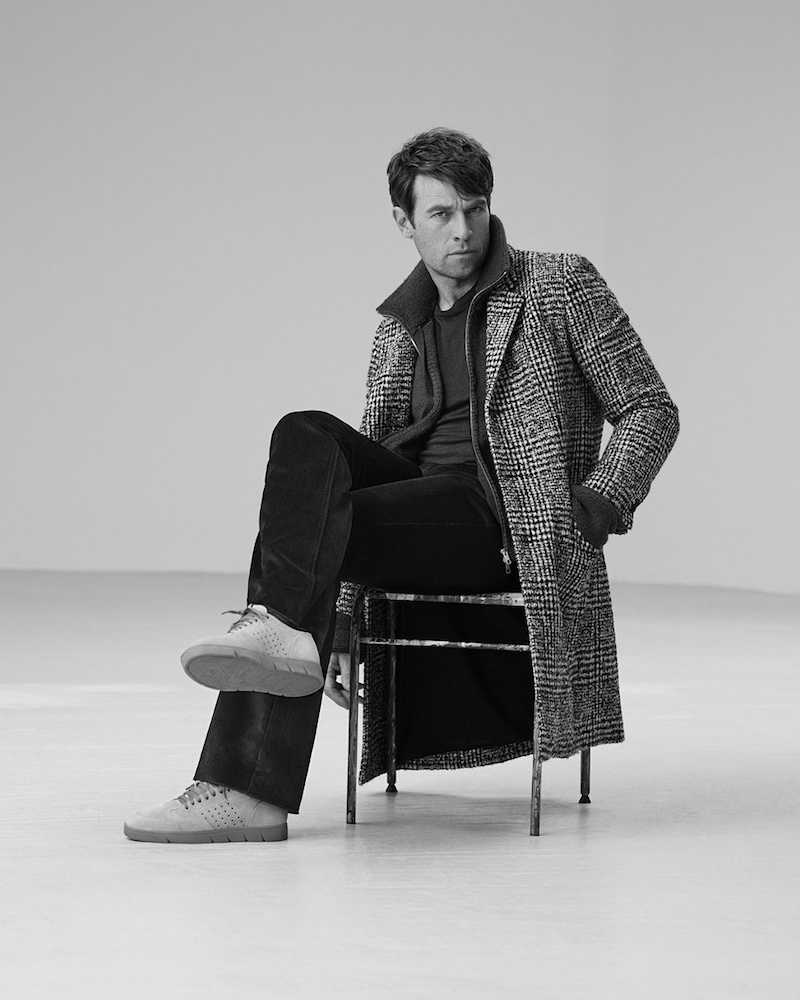 Éditions M.R Black and white Prince of Wales-checked Coat