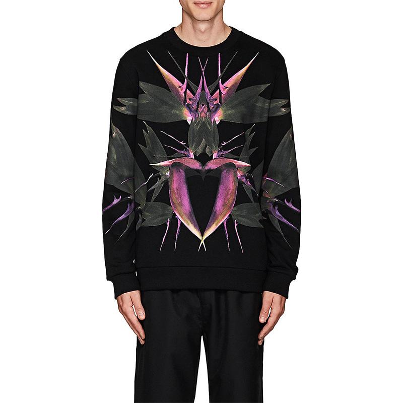 Givenchy Bird-Of-Paradise Cotton Cuban-Fit Sweatshirt
