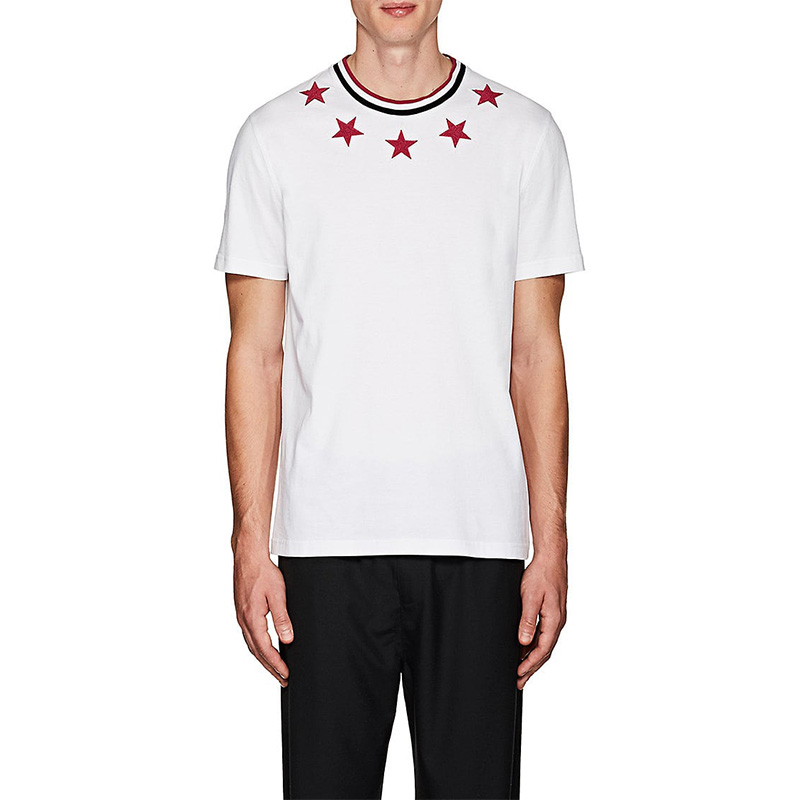 Givenchy Star-Appliquéd Cotton Cuban-Fit T-Shirt