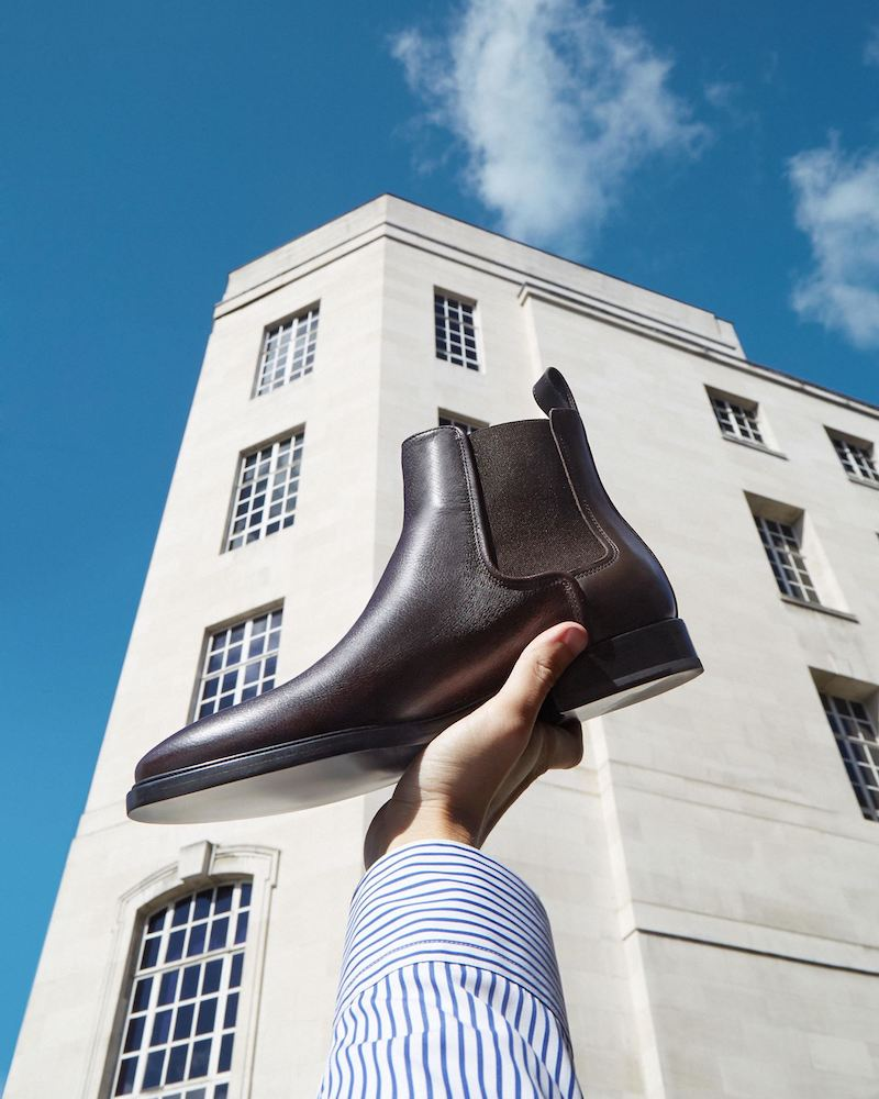 Lanvin Grained-Leather Chelsea Boots