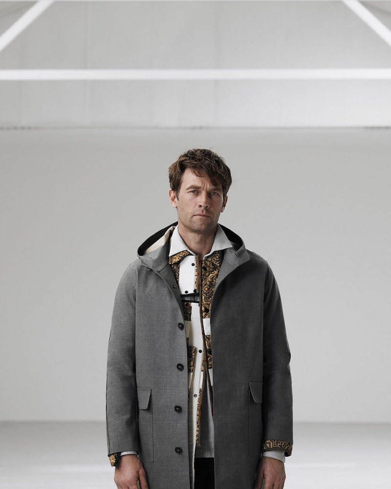 Mackintosh Bonded-Wool Hooded Trench Coat
