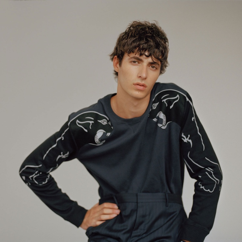 Valentino Panther-Print Cotton Sweatshirt