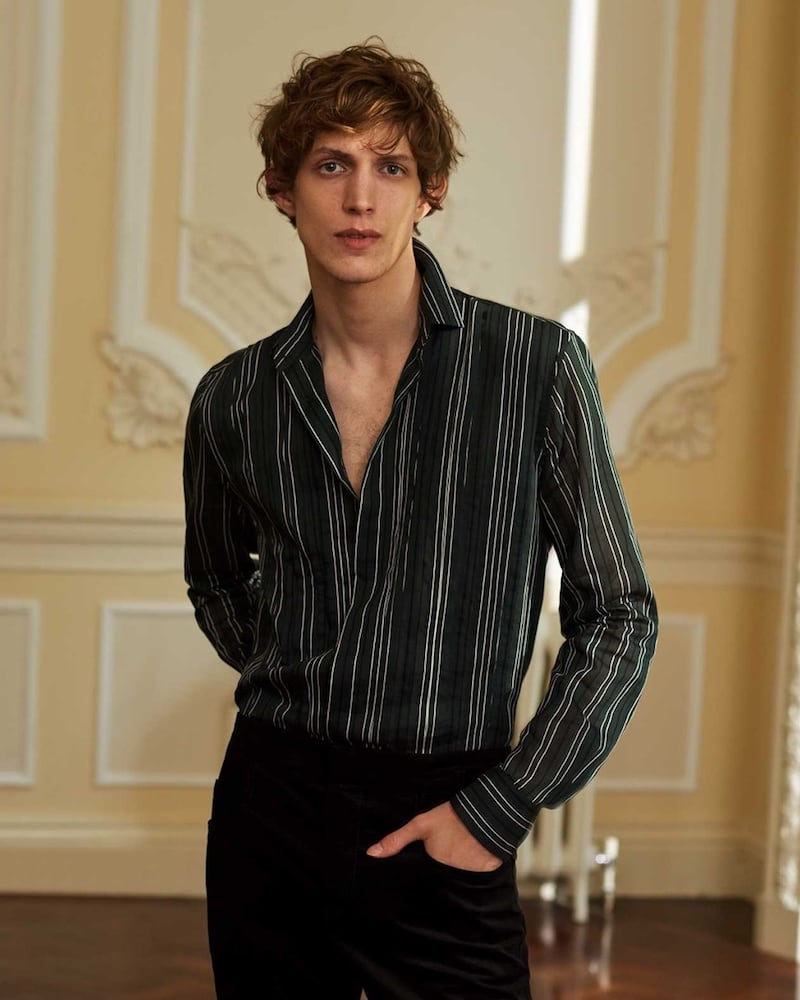 Bottega Veneta Single-Cuff Striped Cotton And Silk-Blend Shirt