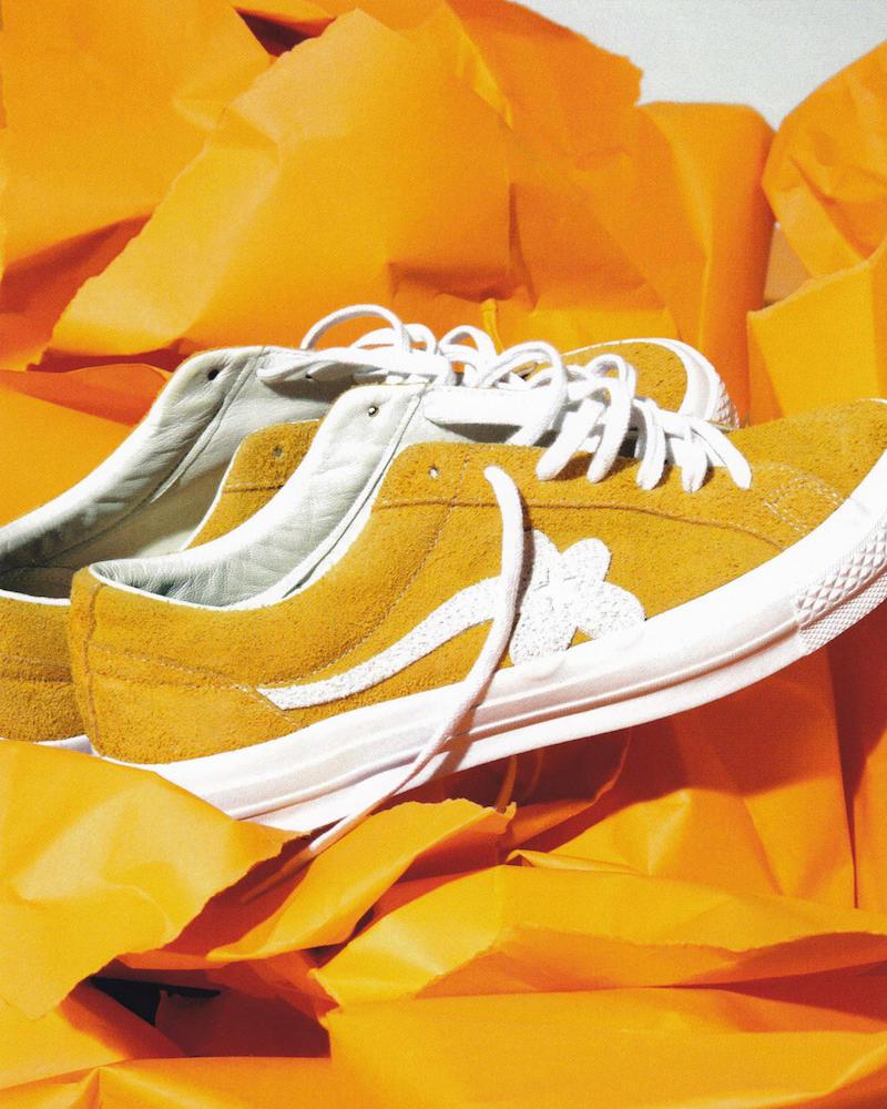 Converse x Tyler, The Creator Golf le Fleur* Suede Low Top Sneaker in Solar Power