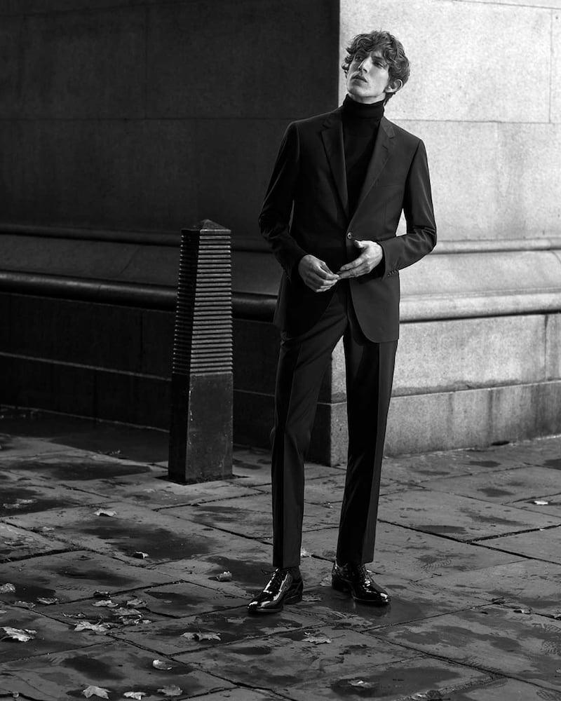Lanvin Black Attitude-Fit Single-Breasted Checked Wool Suit
