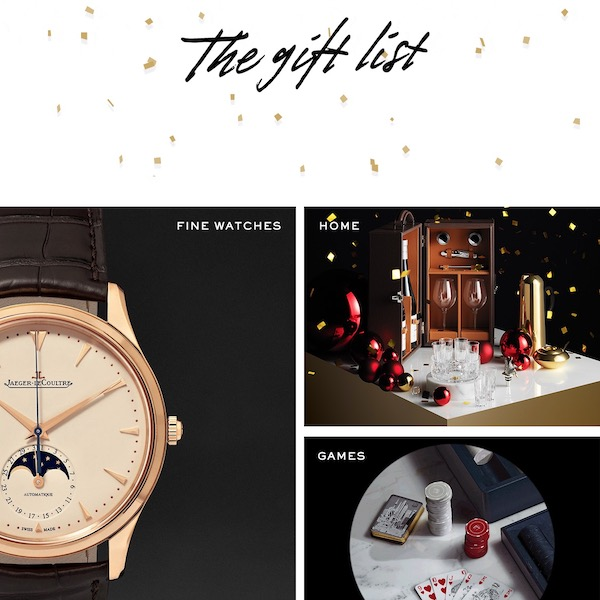 MR PORTER Holiday 2017 The Gift List