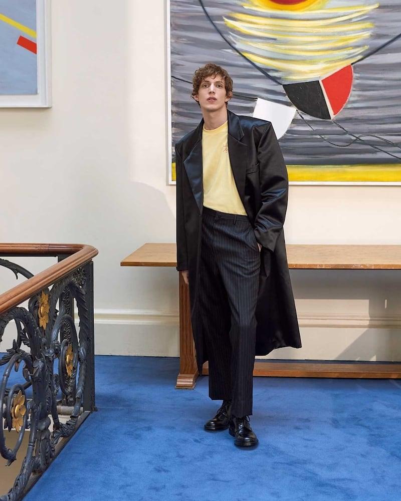 Raf Simons Notch-Lapel Single-Breasted Duchess-Satin Coat