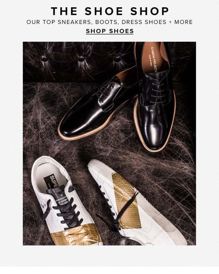 The Shoe Shop. Our top sneakers, boots, dress shoes + more. Shop Shoes.