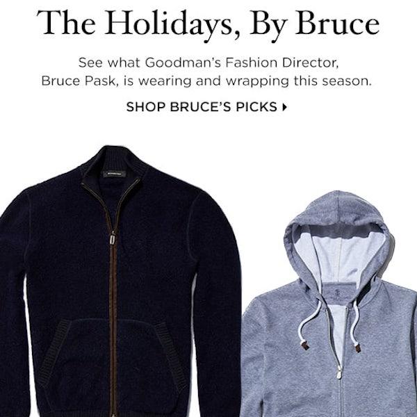 Bergdorf Goodman Men's Fashion Director's Holiday Picks