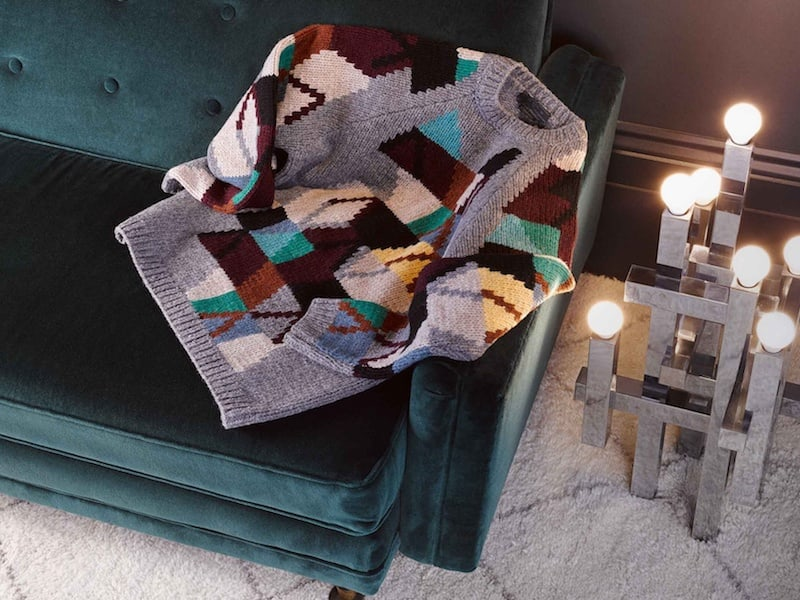 Prada Geometric Intarsia Wool Sweater
