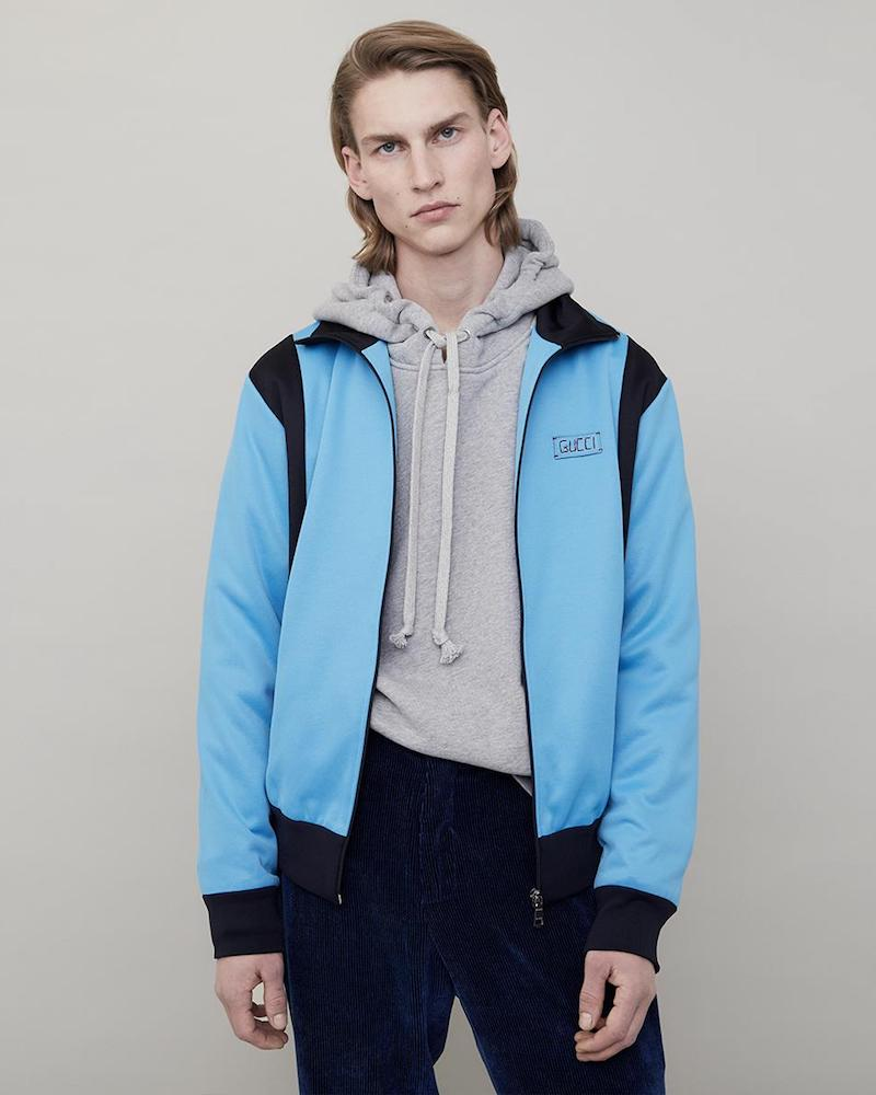 Gucci Contrast-Panel Zip-Through Sweatshirt