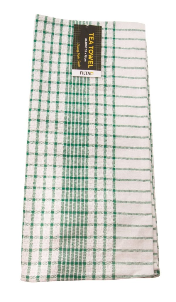 Filta Cotton Tea Towel Green