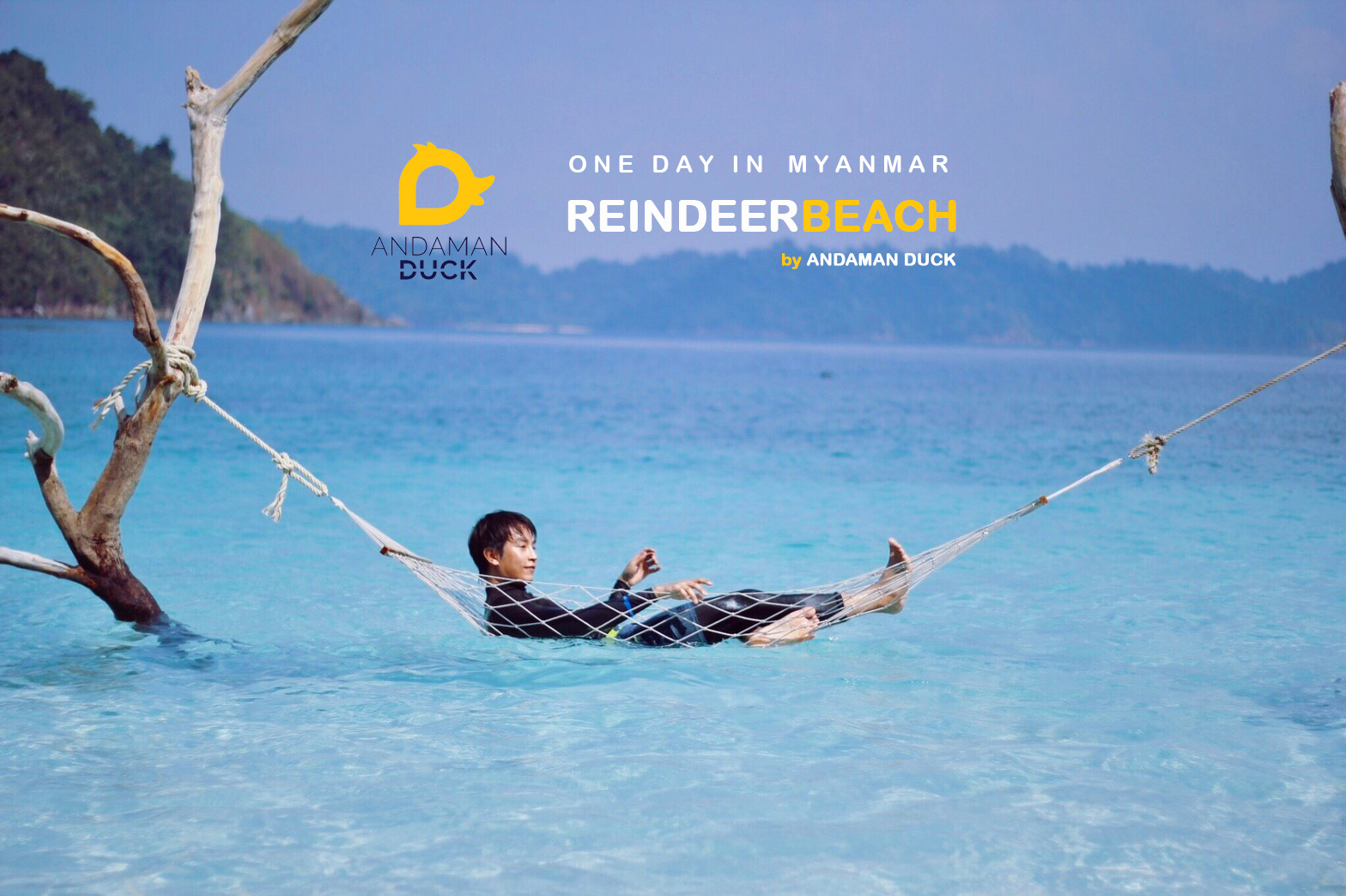 One Day in Reindeer Beach Myanmar with Andaman Duck